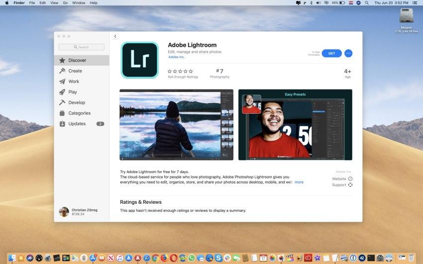 Adobe Lightroom Mac App Store