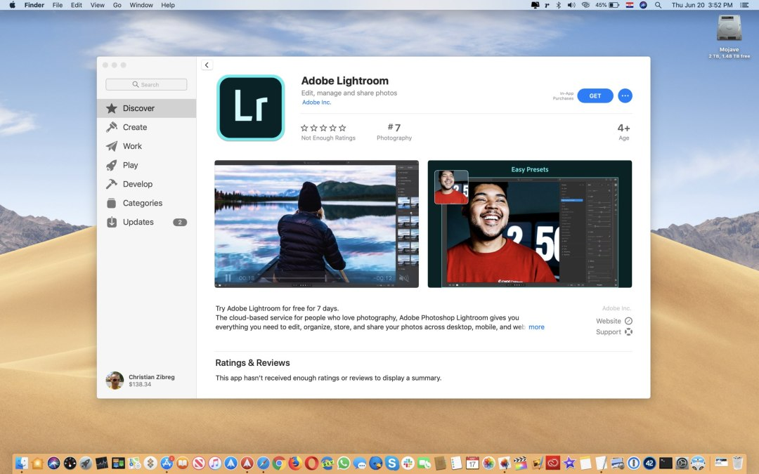 Adobe Lightroom ab sofort im Mac App Store verfügbar