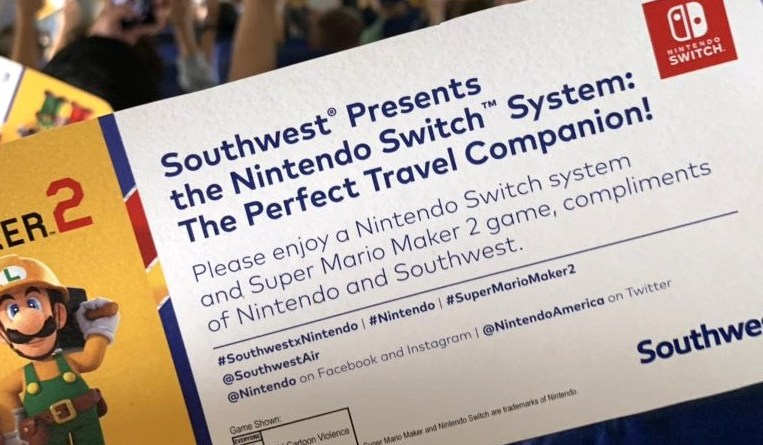 Super Mario Maker 2 Southwest Airlines
