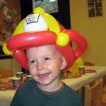 Ballon-Feuerwehrhelm