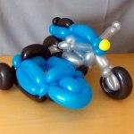 Ballon Motorrad mit Beiwagen