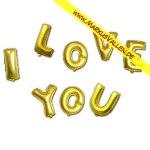 Folienballons Happy I-Love-You