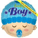 Folienballon baby-boy-gesicht