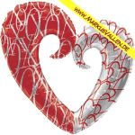 Folienballon Herz-Ring