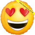Folienballon smiley-love