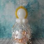Geschenkballon Mr & Mrs zur Hochzeit mit Diamantring on Top