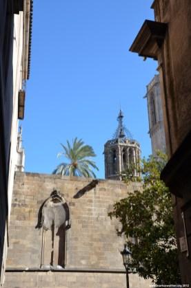 Kathedralenturm in Barcelona