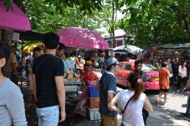 Bangkok Chatuchak Weekend Market Händler