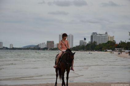 Hua Hin Strand Pferdereiten
