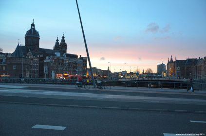 Dämmerung am Amsterdam Centraal