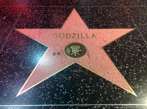Godzilla auf dem Walk Of Fame, Hollywood