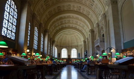 Boston Public Library Lesesaal
