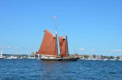 Segelschiff im Hafen von Boston