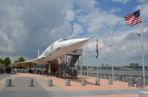 Die Concorde im Intrepid Sea, Air & Space Museum, New York
