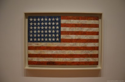 Stars and Stripes Gemälde im MoMa New York
