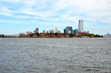 Blick auf Ellis Island, New York