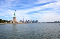 Liberty Island und Manhattan, New York