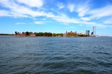 Anfahrt auf Ellis Island, New York