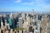 Blick vom Empire State Building nach Upper Manhattan mit Central Park