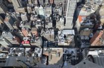 Blick nach unten vom Empire State Building