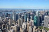 Blick auf New York Upper Manhattan mit Hudson River