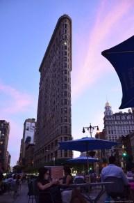 New York Flatiron Building am Abend