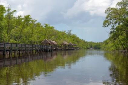 Schilfhütten in den Everglades