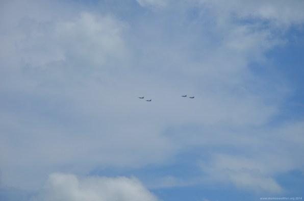 Formationsflug der US Navy