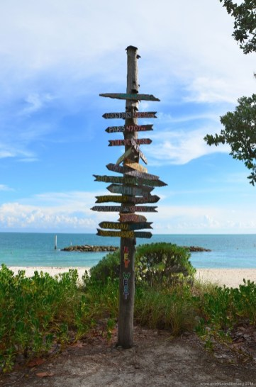 Fort Zachary Taylor Historic State Park Signpost, Key West