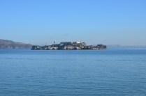 Fernblick auf Alcatraz Island