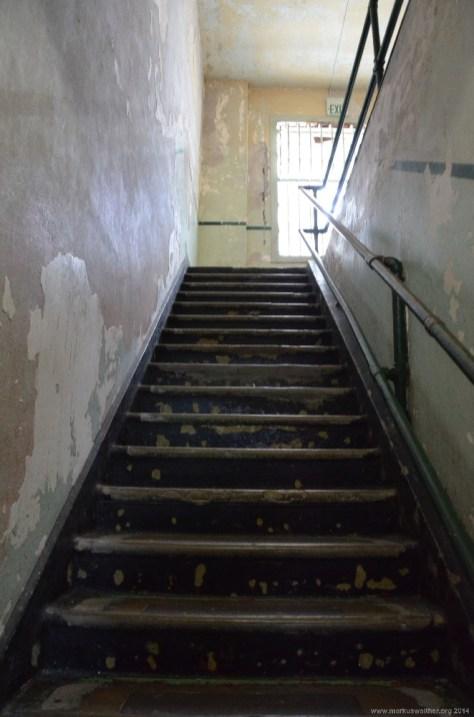 Treppe auf Alcatraz Island