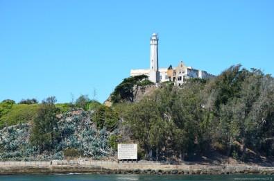 Warnschild vor Alcatraz Island