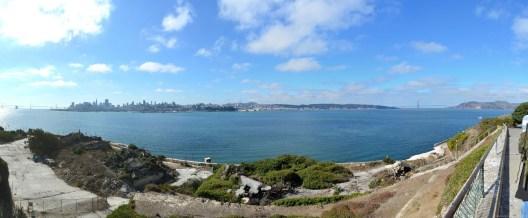 Panorama über San Francisco von Alcatraz Island