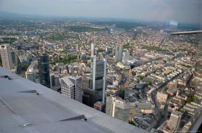 Blick auf die Frankfurter Innenstadt aus der JU-52