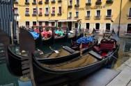 Venezianische Gondeln, Italien