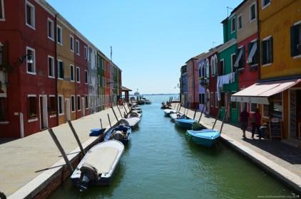 Blick auf von Burano auf Venedig, Italien