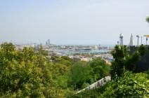 Blick vom Montjuïc auf den Hafen von Barcelona