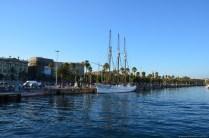 Segelschiff im Hafen von Barcelona