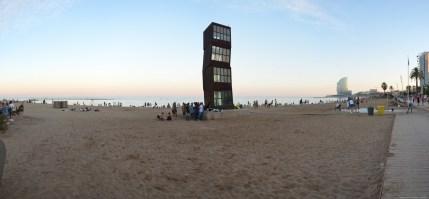 Panorama am Strand, Barcelona