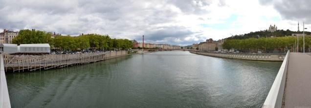 Panorama der Passerelle Saint-Georges Lyon