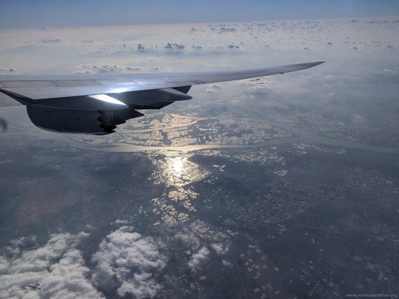 000 Hongkong Landeanflug auf Hongkong