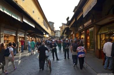 Ladenstraße auf Ponte Vecchio