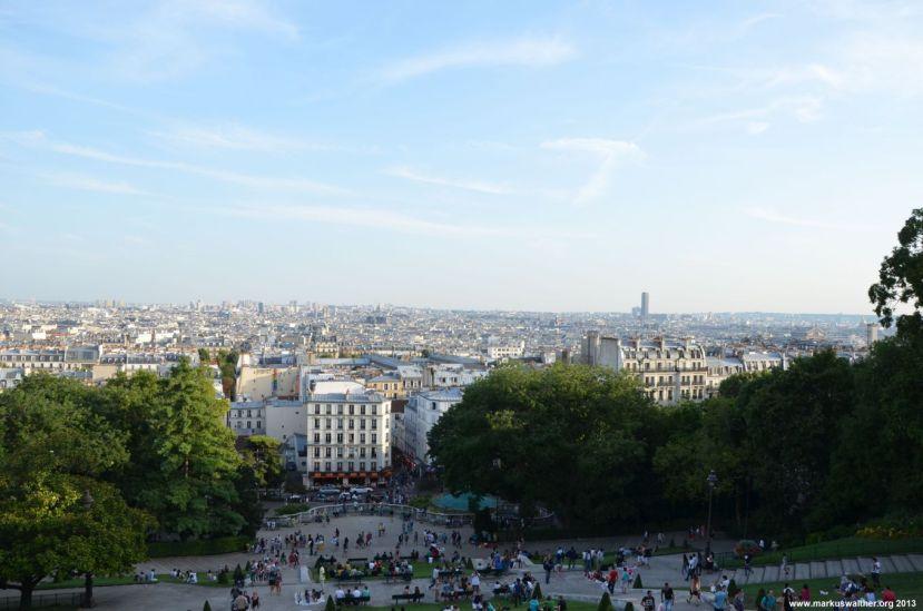 Blick über Paris von Sacré Coeur