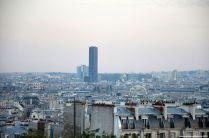 Blick auf Tour Montparnasse von La Basilique du Sacré Coeur
