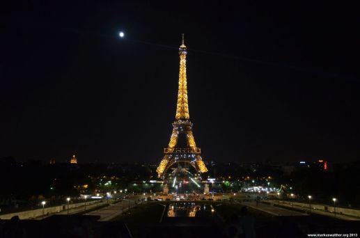 Blick auf den Eiffelturm vom Trocadéro