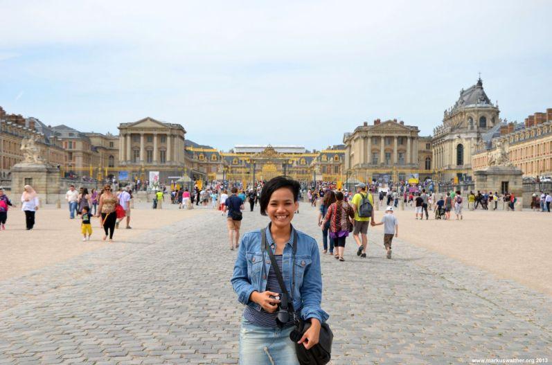 Auf dem Weg zu Schloss Versailles