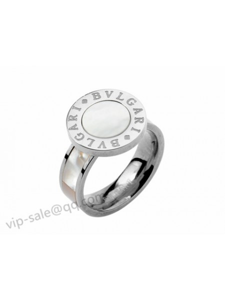 Bvlgari Bzero1 White Shell Ring In White Gold