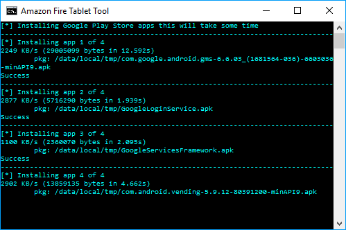 RootJunky's Amazon Fire Tablet Tool at work