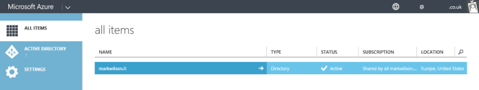 Azure - AD created by Office 365
