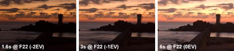 Original images used to create Pointe de Trévignon HDR